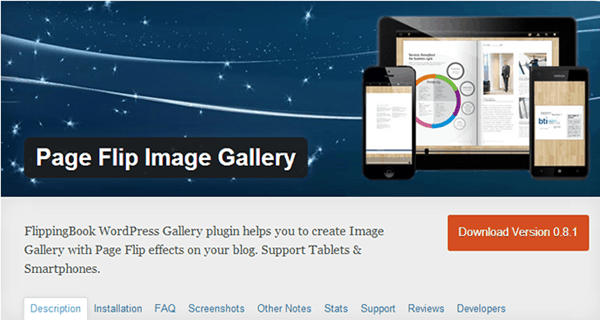 Page Flip Image Gallery