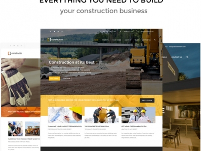 10 Best Premium WordPress Themes for Construction Websites