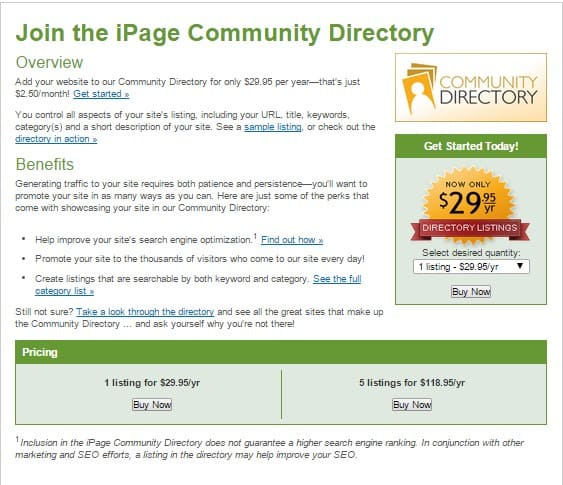 iPage Community Directory