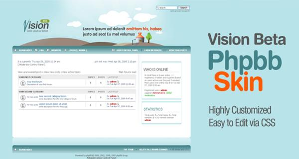 10 fresh and beautiful responsive phpbb themes you should know vision phpbb skin maxwellsz