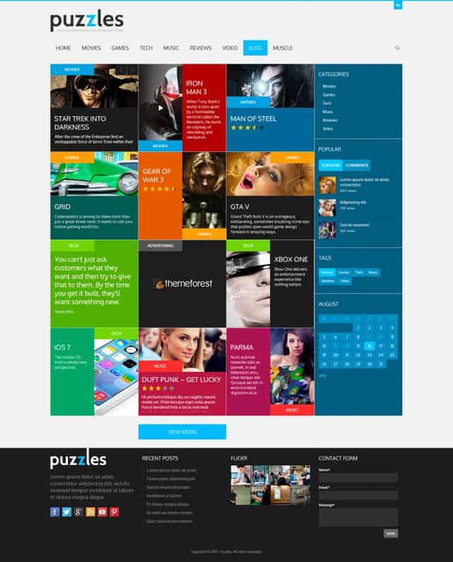 puzzles-WordPress-review-theme